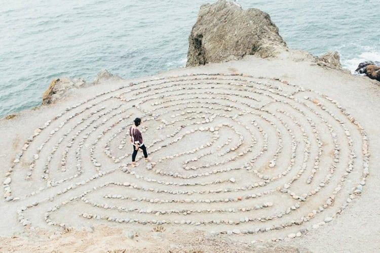 meditasjonsgrupper, bilde av en steinlabirynt