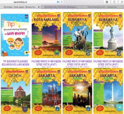 Buku Tips Berwisata Bareng Keluarga ke Luar Negeri bersanding dengan buku panduan lainnya