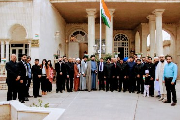 With Indian Tricolour