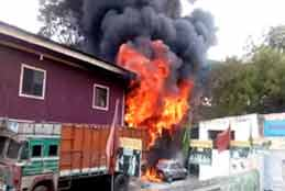 Fire breaks out from furniture godown at MJ Market