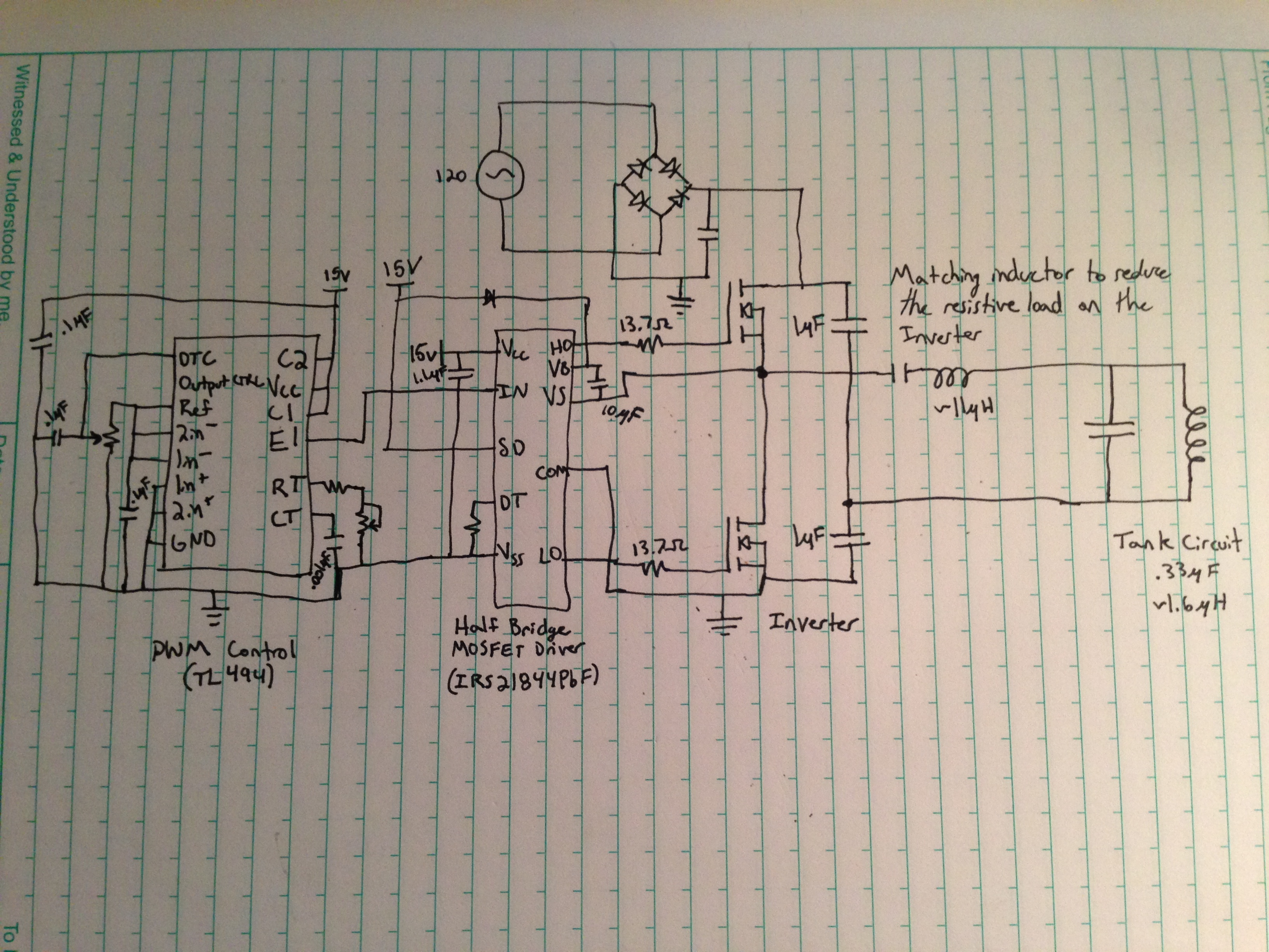 Induction Heater Circuit Schematic