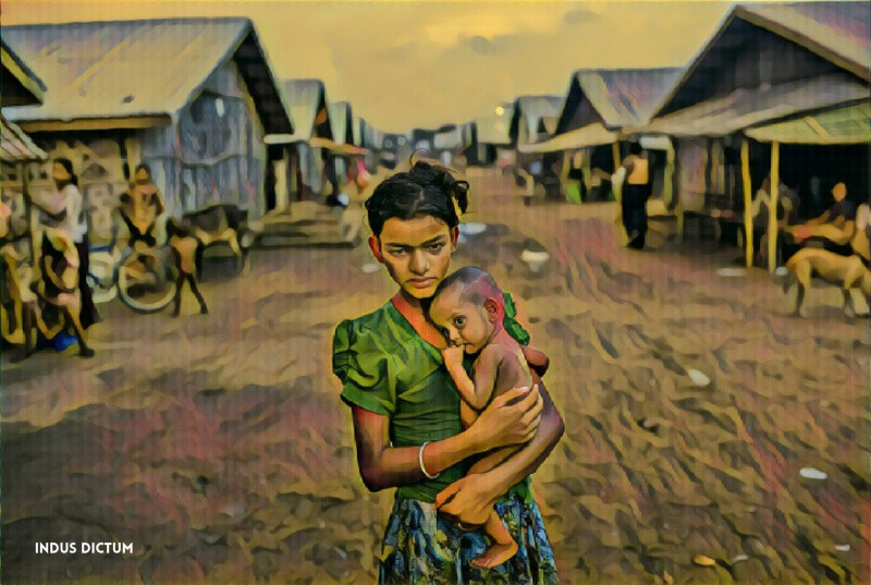 rohingya starved girl watermark