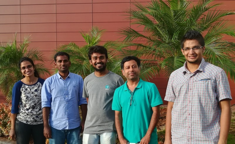 Dr Ramkumar with members of the research team (embryonic stem cell research at InStem)