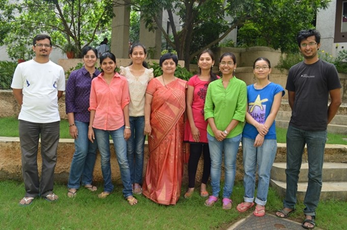 Dr Vaijayanti Kale (Centre) with the research team at NCCS