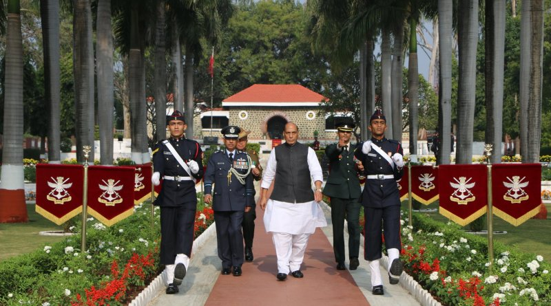Def Min Rajnath reviews Passing Out Parade of 137th course at National Defence Academy, Pune