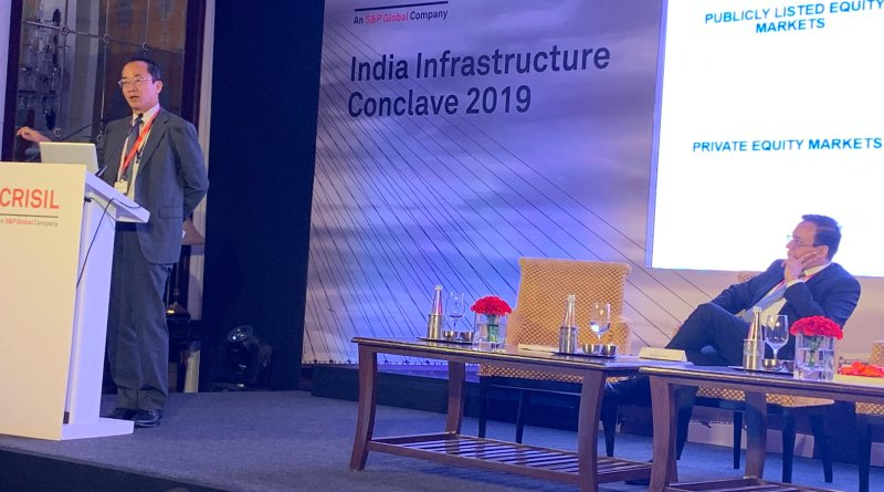Kenichi Yokoyama, Country Director for ADB in India at CRISIL India Infrastructure Conclave 2019.