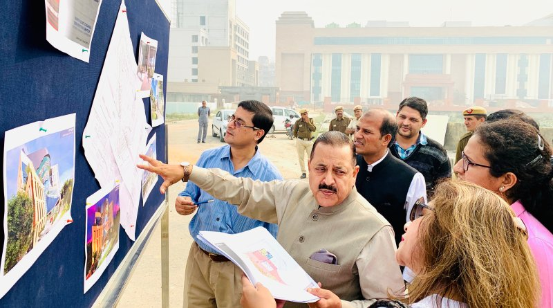 North East Convention Centre to be cultural & info hub of NE Region in Delhi; Jitendra Singh visits site