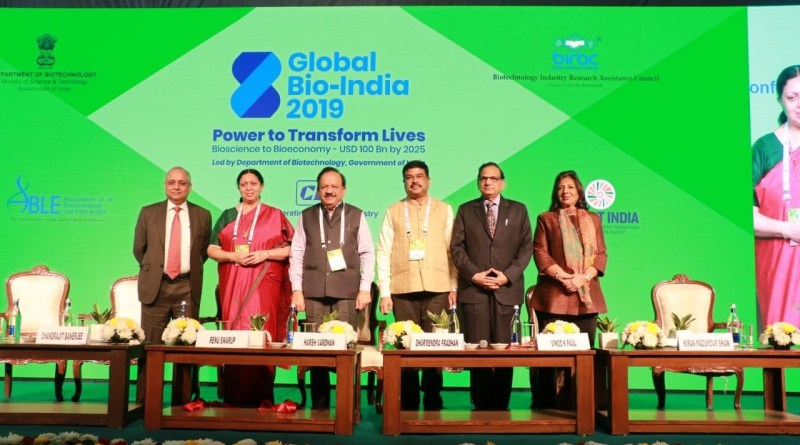 Sci-Tech Min releases report on private investment in biotechnology at Global Bio-India 2019