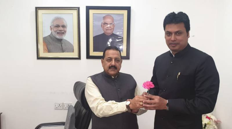 Tripura CM meets Union Min Jitendra Singh to discuss development, Civil Services