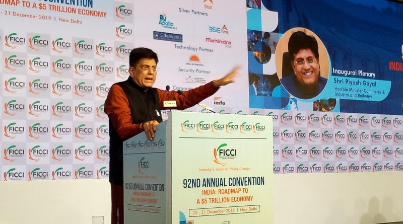Dialogue between govt & industry necessary for India growth story: Piyush Goyal at FICCI AGM
