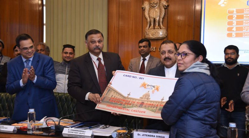 Handbook for retiring Central Govt employees smart card for Dept Canteen of DoPT launched cover | Indus Dictum