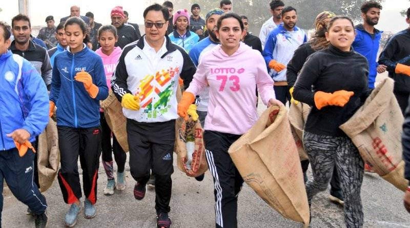 Kiren Rijiju names Ripu Bevli 'Plogging Ambassador of India' at 50th Fit India Plogging Run