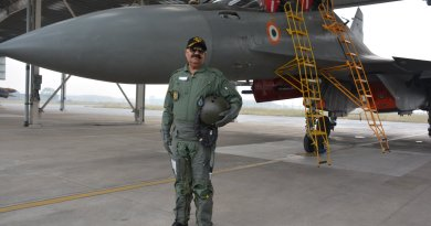 Punjab Gov Vijayender Badnore visits Air Force Station Halwara, flies in a Sukhoi Su-30 MkI