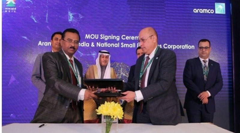 Saudi Aramco (Asia) & NSIC under MSME Min sign MoU for oil & gas sector development