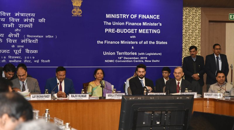 Sitharaman holds Pre-Budget consultation with Finance Ministers of States & UTs