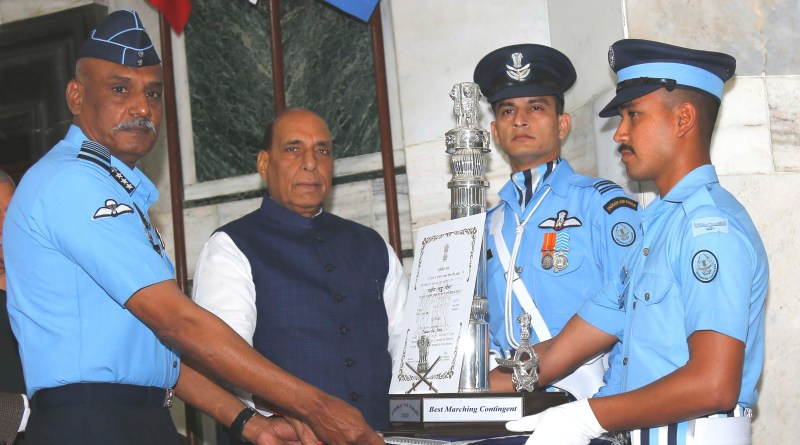 Air Force, CISF bag awards for R-Day Parade, presented by Defence Minister Rajnath cover