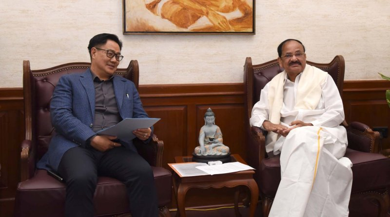Expedite all sports projects in Andhra: VP Naidu to Minister Rijiju