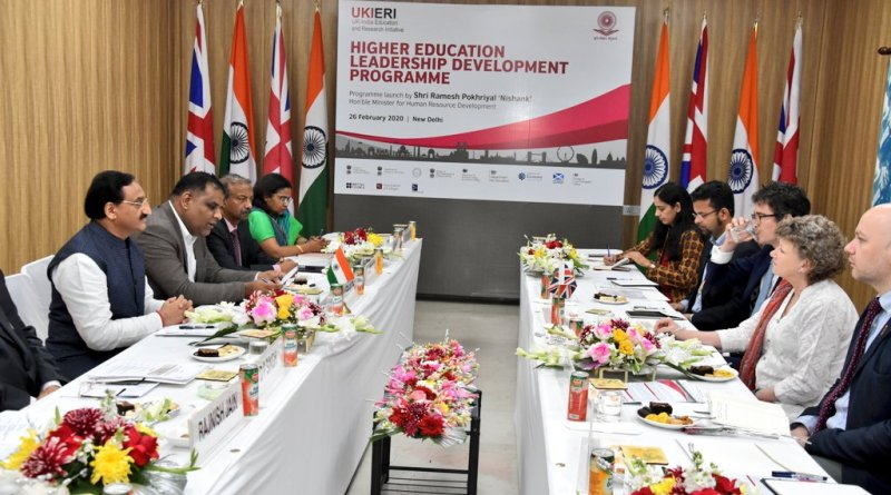 HRD Minister Pokhriyal launches UGC-British Council's leadership program for admins