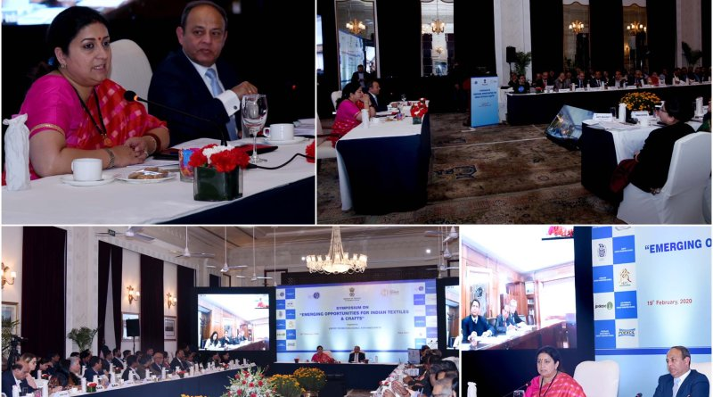 Minister Irani attends Delhi symposium on opportunities for Indian textiles & crafts