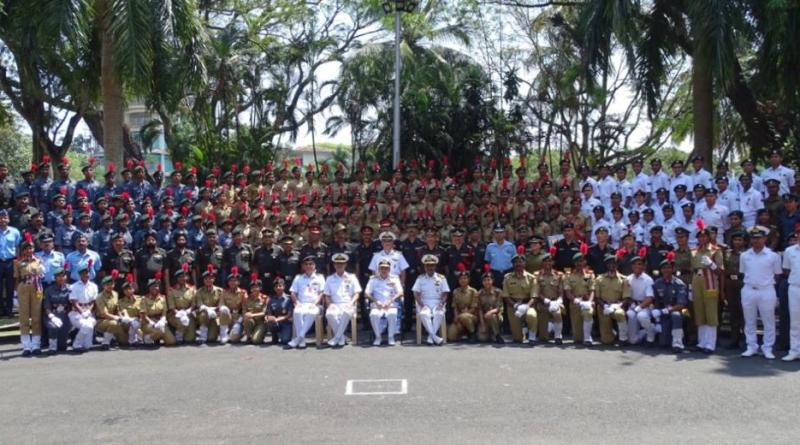 NCC cadets felicitated by Vice Admiral Chawla in Kochi for Republic Day Parade performance