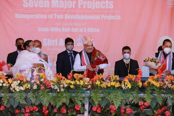 HM Shah inaugurates development projects in Manipur