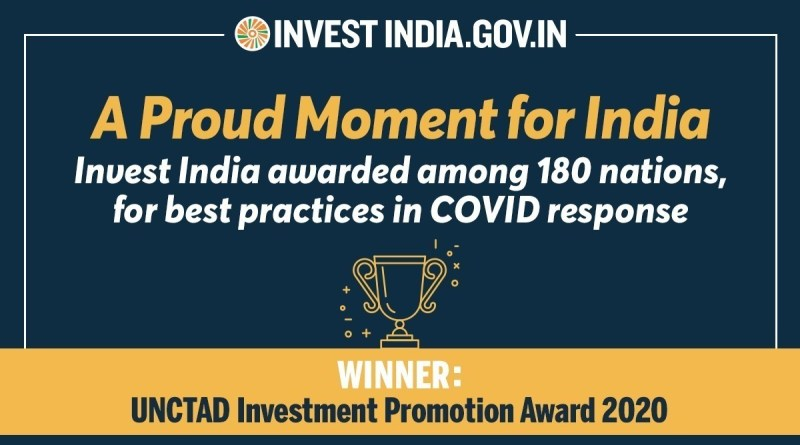 'Invest India' wins United Nations Investment Promotion Award 2020