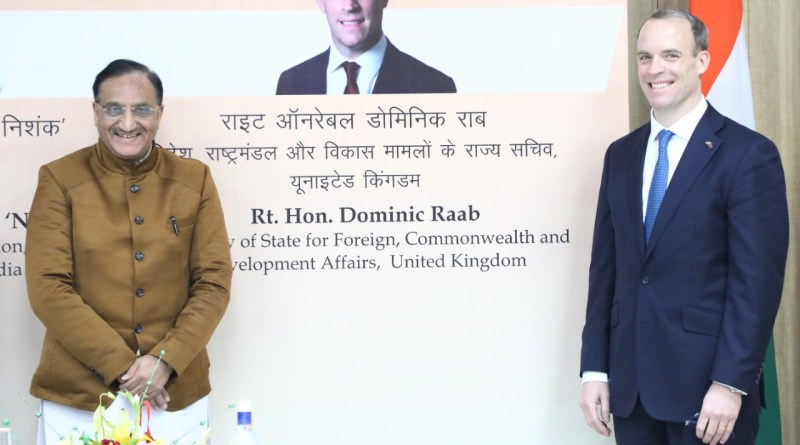 Education Minister Pokhriyal meets UK Foreign Secretary Dominic Raab | indusdictum