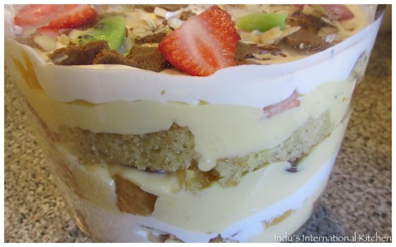 Almond Cake trifle