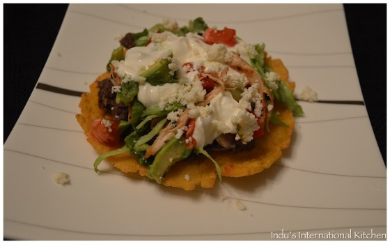 Chicken and Black bean Tostada