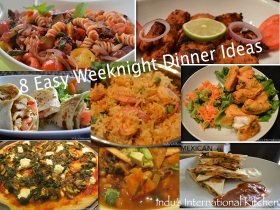Easy weeknight Dinner Ideas