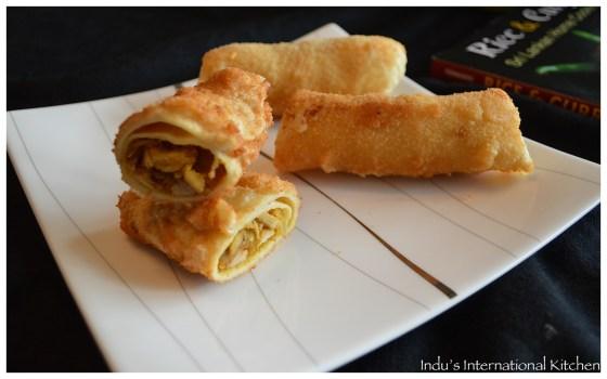 Sri Lankan Chicken Spring rolls