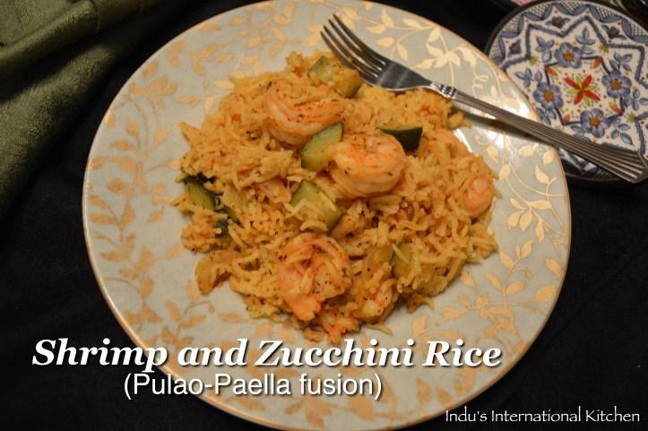 Shrimp Pulao Paella style