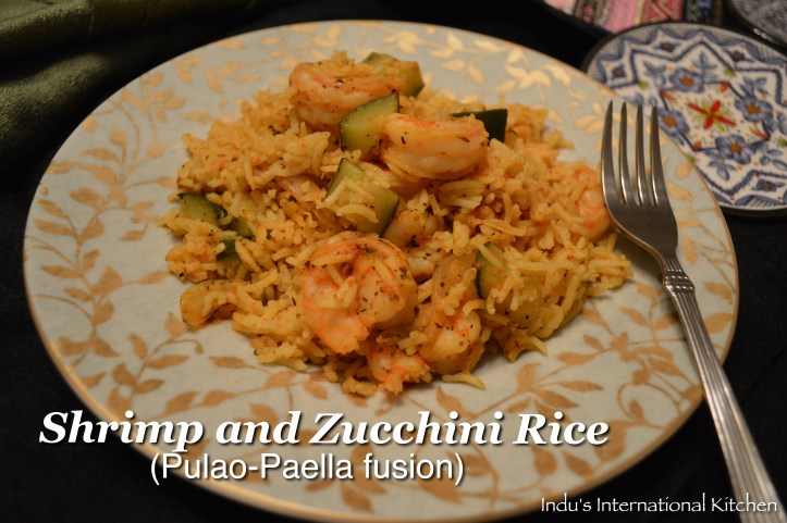 Shrimp and Zucchini Paella-Pulao