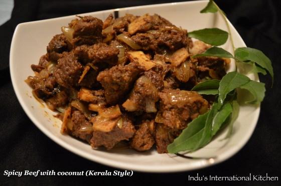 Kerala style beef stir fry