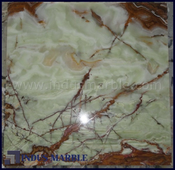 Medium Green Onyx Tile Indus Marble