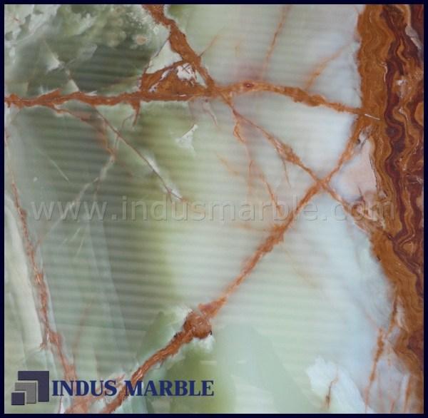 Multi Green Onyx Tile Indus Marble