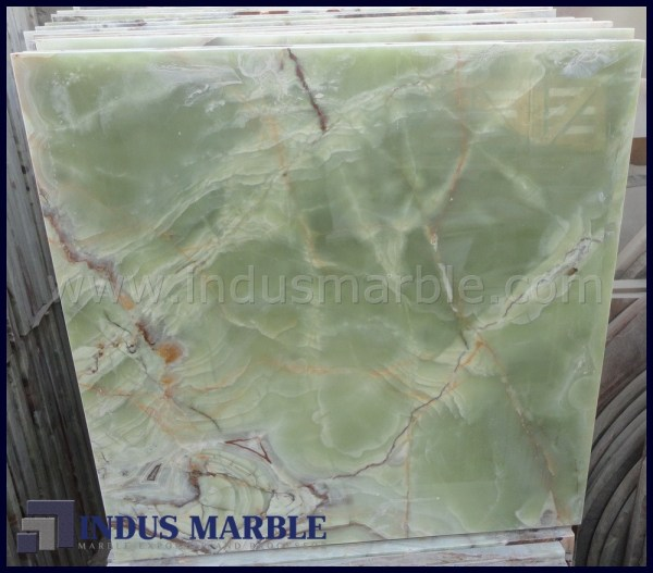 Pure Green Onyx Tile Indus Marble