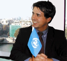 Marco Buoni nella sede ONU di Parigi