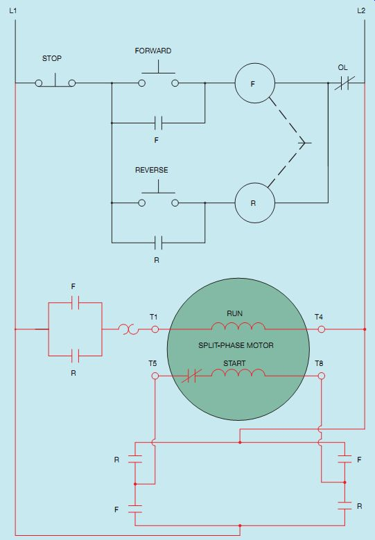 How To Reverse A Single Phase Motor : reverse, single, phase, motor, Forward-Reverse, Control