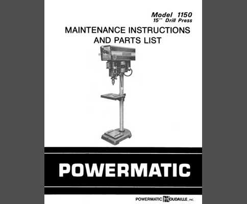 Powermatic 1150 Parts Diagram