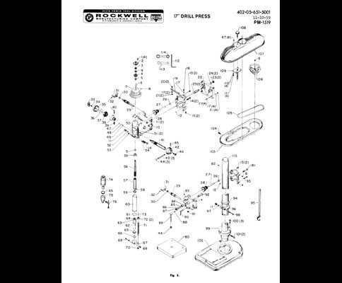 Clausing Drill Press Parts