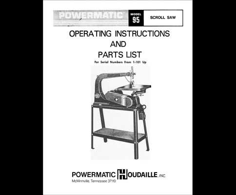Powermatic Model 81 Specs