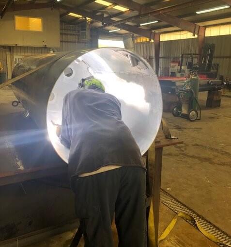Fuel tank repair aluminum welding