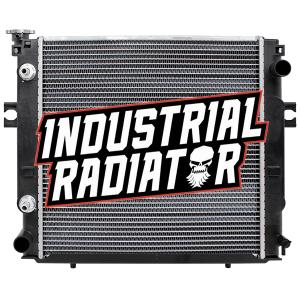 MCFA/Mitsubishi Forklift Radiator - 17 3/4 x 17 5/8 x 1 7/8 (Square Wave Core)