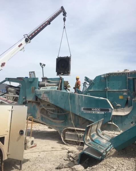 rock quarry radiator repair on site