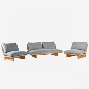 Lounge bank 3p 195x88x75 Reclaimed wood Industrial 66 Tholen
