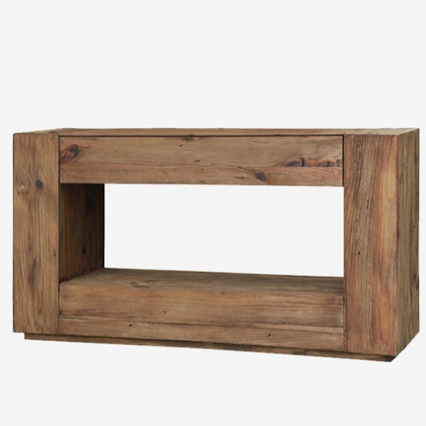 Muurconsole 140×40 Reclaimed wood Industrial 66 Tholen