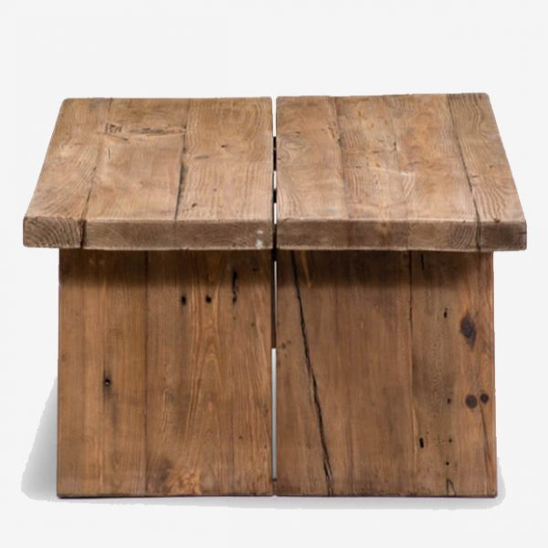 Salontafel recht 135×78 Reclaimed wood Industrial 66 Tholen