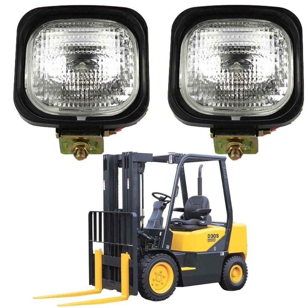 70W Halogen Forklift Headlight Flood Lamp 24V Industrial Depot