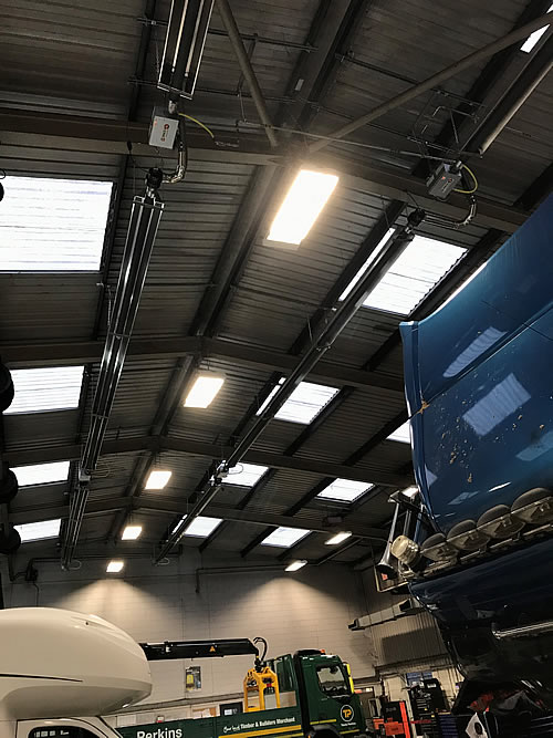 Spaceray single linear radiant tubes were specified and installed by Industrial Heaters with each heater controlled by a Smartcom3 energy saving controller